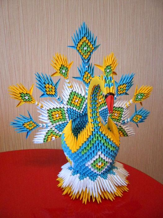 Схема сборки оригами лебедь