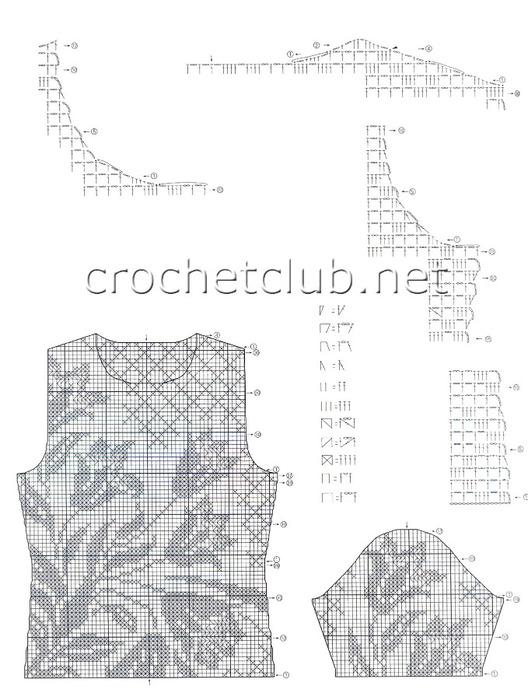 Кофты филейным вязанием схемы - Всё про вязание здесь.