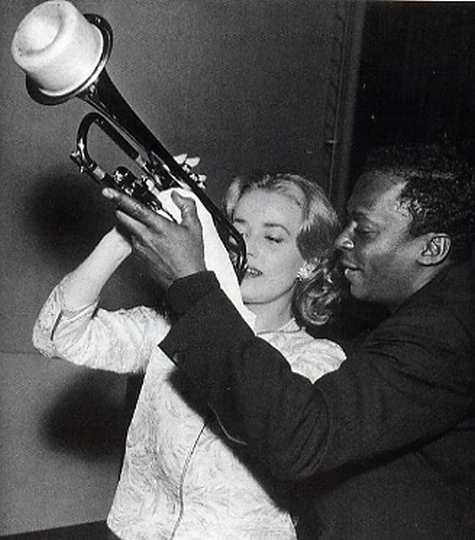Miles Davis and Jeanne Moreau ak (475x540, 161Kb)