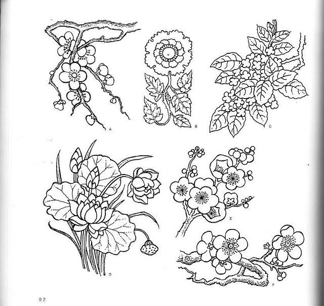 Растительный мотив рисунок