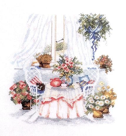 вышивка крестиком цветы/3903398_Floral_Teatime (429x464, 63Kb)