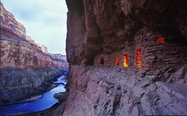 Proshots - Ancient Anasazi Ruins at Dusk, Arizona - Professional Photos (600x374, 529Kb)