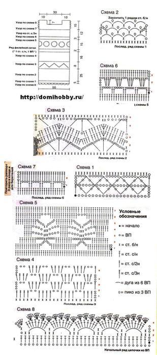 Бесплатные схемы вязания крючком, вяжем крючком схемы с описанием, как легко вязать крючком, японское вязание...