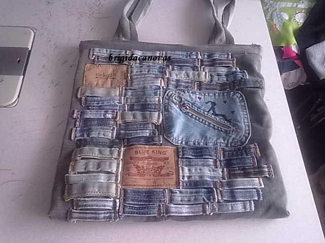 сумка для ноутбука из старой джинсы