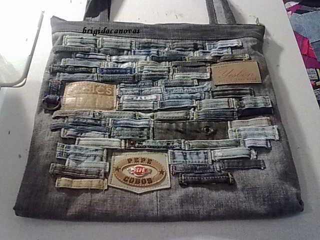 как сшить необычную сумку из джинсов. сумки из джинсов идеи 20.