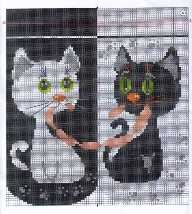 Котята. Схемы для вязания и