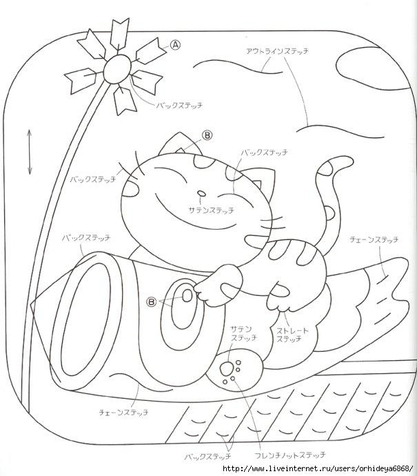 """свой цитатник или сообщество!  Схемы аппликаций прихваток на тему  """"кошек """".  Прочитать целикомВ."""