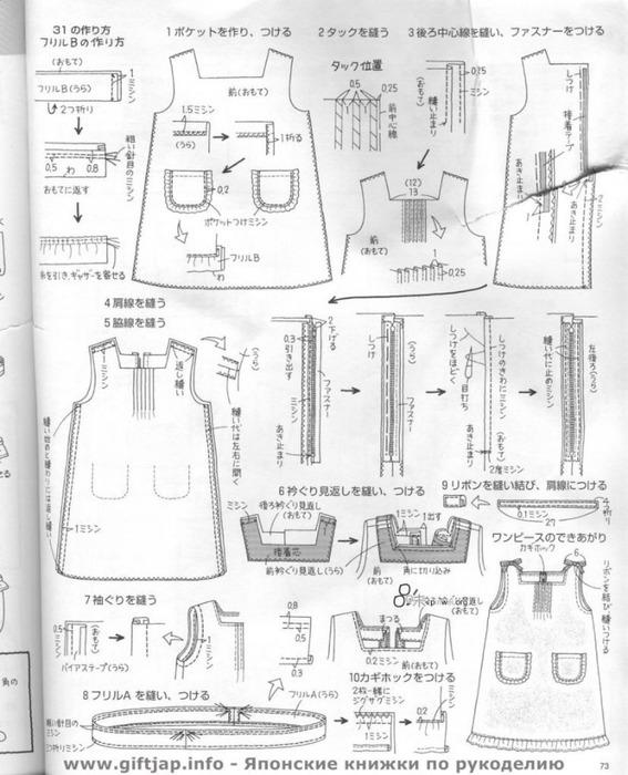 Японские журналы с выкройками для шитья