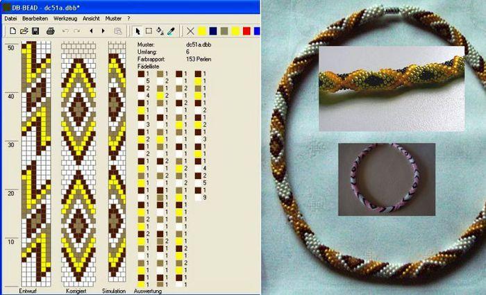 Жгуты вязанные из бисера крючком - новые возможности и... Схемы для вязания крючком с бисером - Мой любимый бисер...