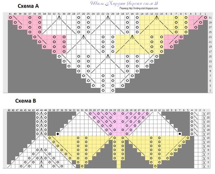 Шаль Харуни 4 схема (700x568, 108Kb)