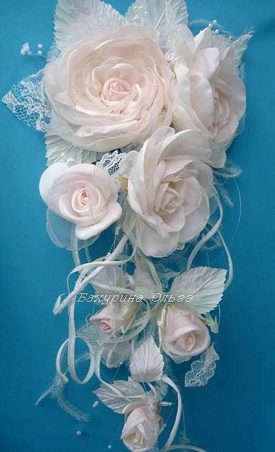 Цветы для свадьбы из органзы своими руками