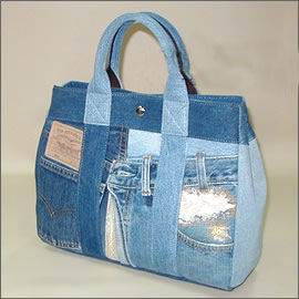 recycling ideas: jean handbags