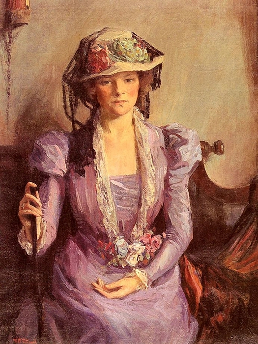 Mary Bradish Titcomb (American, 1858 - 1927) - La Dame De Lavande (525x700, 341Kb)