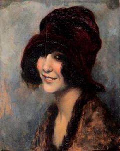 Léo Fontan - Jeune Femme au Chapeau (410x513, 145Ko)