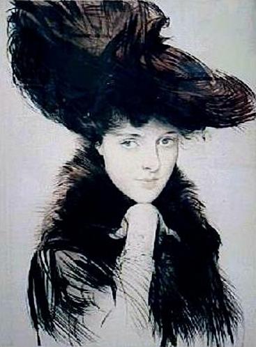 Paul-César Helleu1859-1927-femme aux yeux bleu 1890 (367x498, 138Kb)