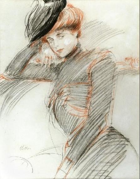 Paul-César-Helleu1859 1927_Elegante au Chapeau (446x572, 209Ko)