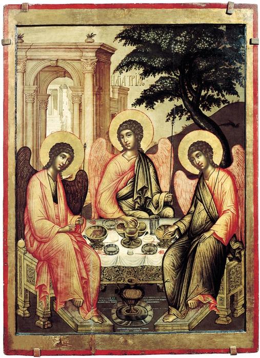 Икона Троица Ветхозаветная.