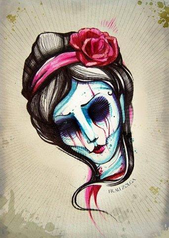 грустные нарисованные девушки картинки: