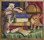 Превью Ж-1053 «Котята с книгами» (400x355, 71Kb)