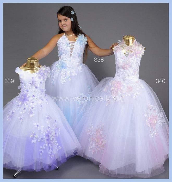 Детское бальное платья своими руками