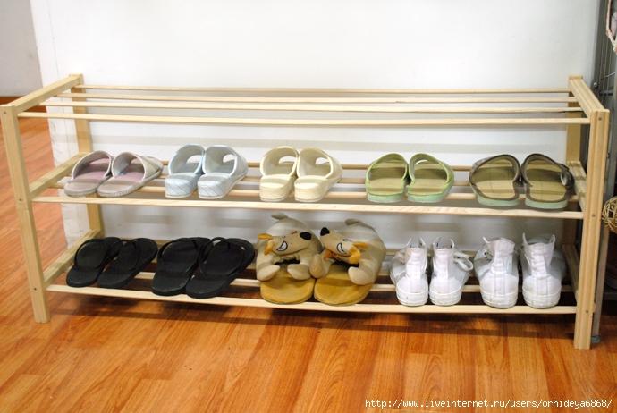 Как сделать полку для обуви своими руками из реек