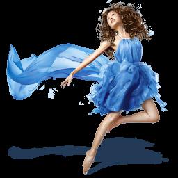 Girls-Blue-Dress-icon (256x256, 68Kb)