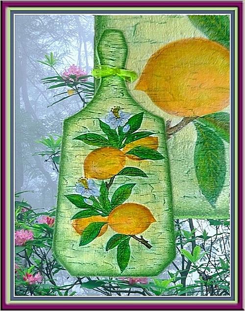 Лимоны. Декупаж. (500x634, 283Kb)