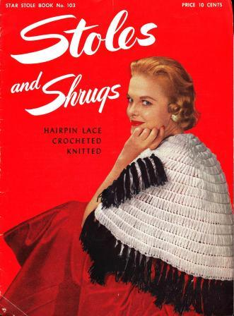 Stoles & Shrugs 1953 Knit Crochet Hairpin Lace Patterns_1 (331x448, 29Kb)