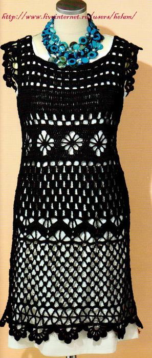 Комментарий: теплые вязаные платья крючком со схемами.