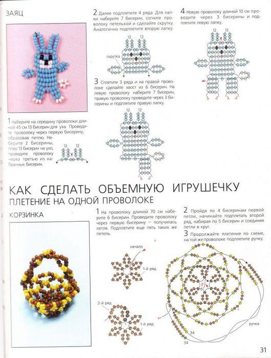Бисероплетение со схемами и инструкциями