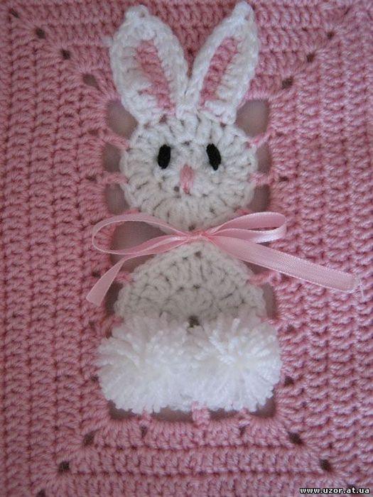 钩针兔子婴儿毯 - maomao - 我随心动