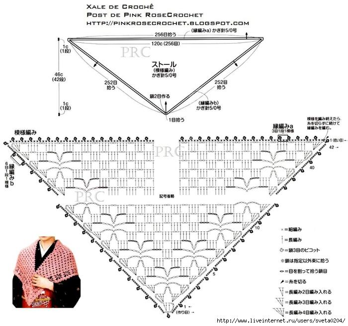 схемы вязание крючком шали от угла производители термобелья предлагают