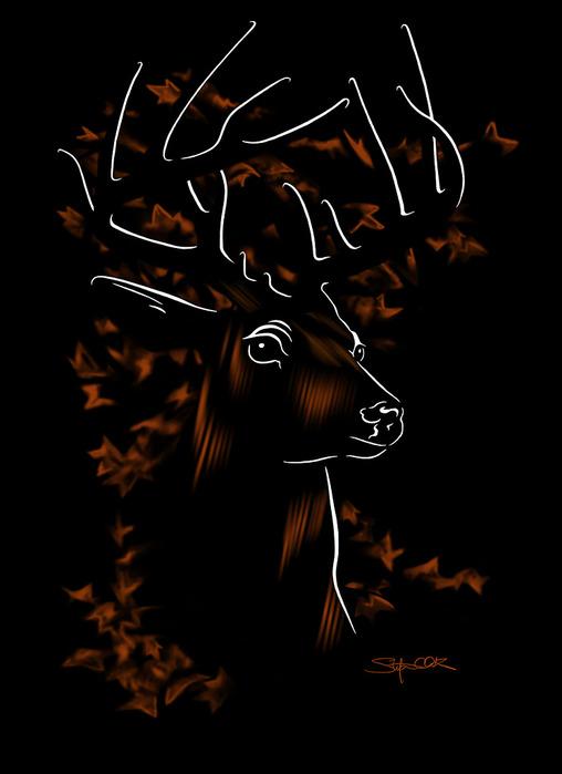 тотемный олень (508x700, 55Kb)