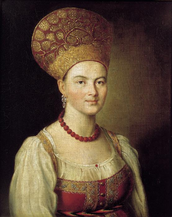 Портрет неизвестной крестьянки в русском костюме. 1784. Холст, масло. 67х54 см (554x700, 177Kb)