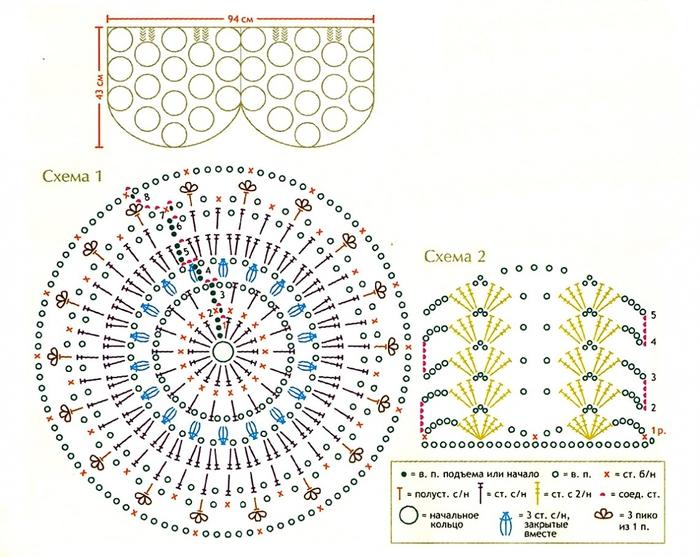Описание: Схемы и модели для вязания крючком и.