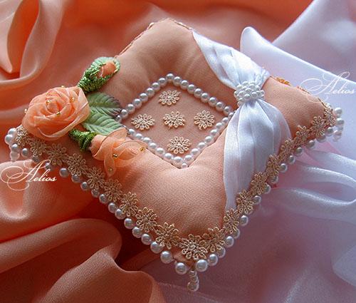 Фото подушечек для колец своими руками