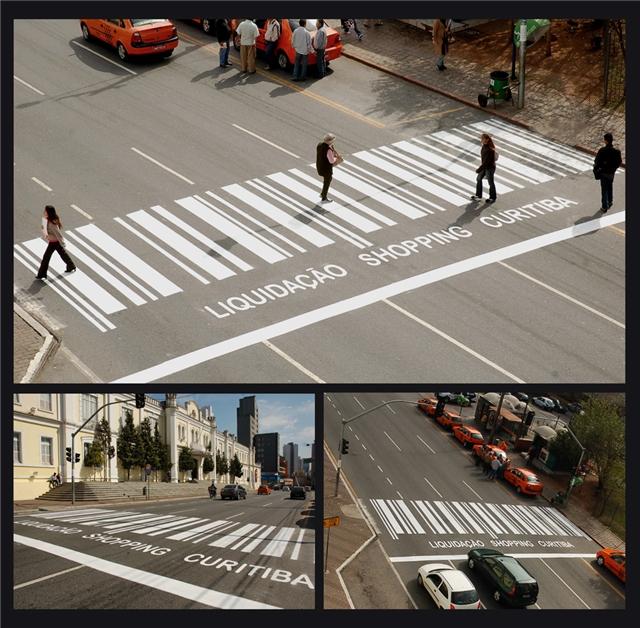 Креативная реклама на улицах города