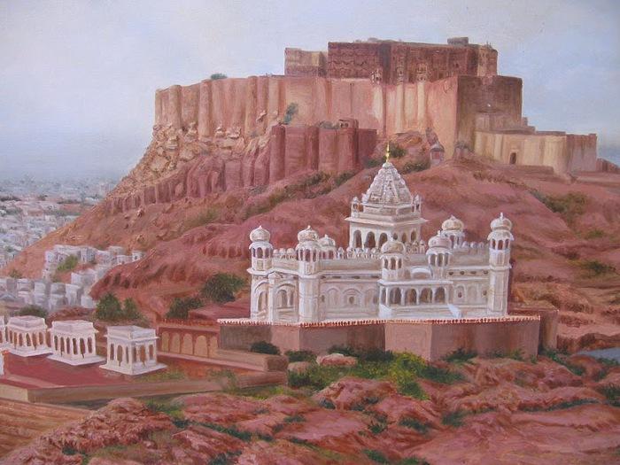 Крепость Мехрангарх - Mehrangarh fort, Jodhpur 84455