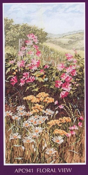 СХЕМА.  Полевые цветы.  Вышивка крестом, схемы.
