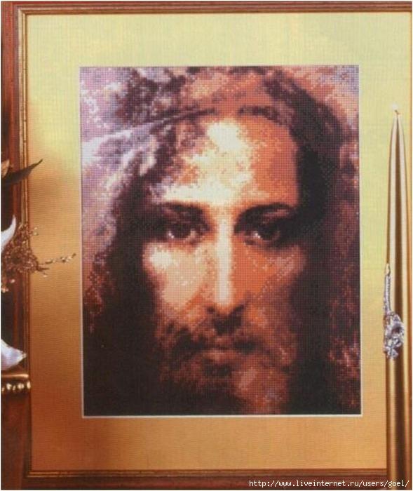 Вышивка. Иисус