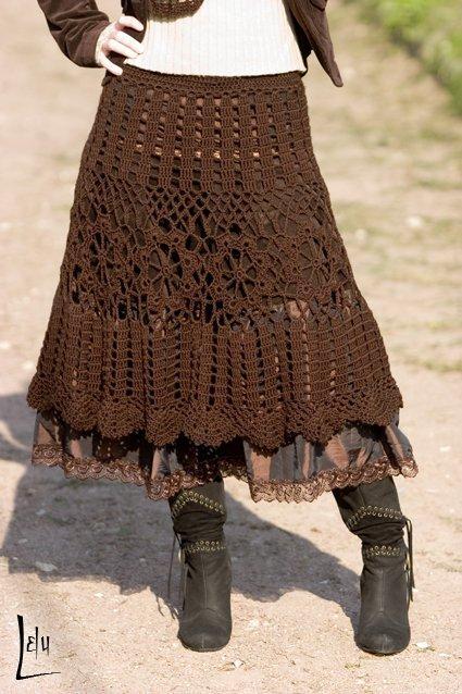 схемы вязания листьев крючком. вязание крючком юбки схемы.