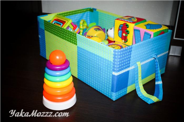 Коробки для игрушек своими руками фото