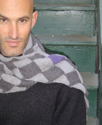 Хомутвязаный для мужчин. узоры для вязания мужского шарфа спицами.