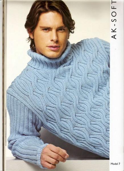 Фото мужских вязаных свитеров.