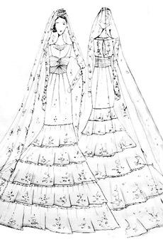 свадебные платья с фатой.