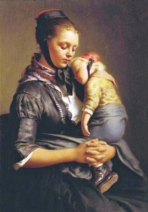 Rejtern Evgraf Romanovich (Russian artist, 1794–1865) Mother and Child (491x700, 235Kb)