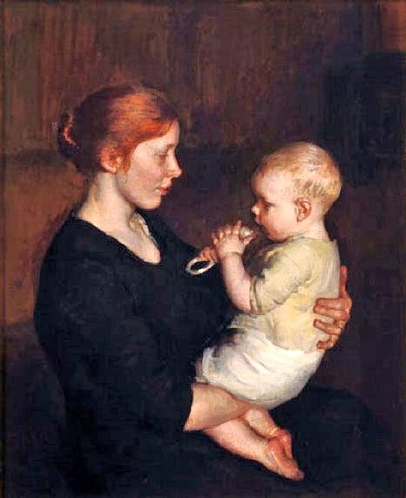 Marie Danforth Page (American painter, 1869–1940) Her Littlest One (571x700, 227Kb)