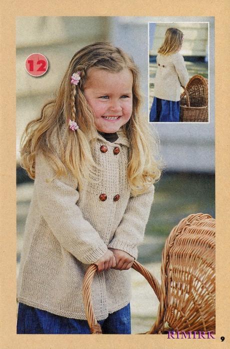 Модели детских вязаных пальто