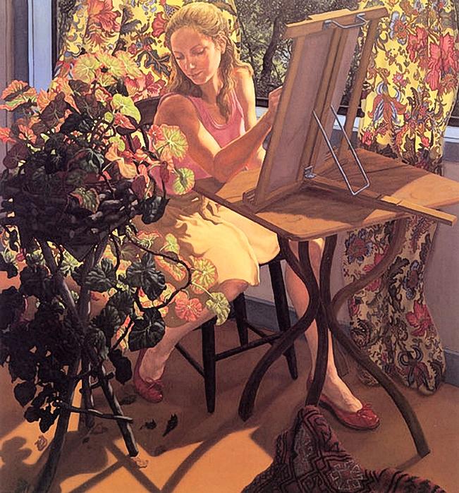 Jack Beal (1931)anne-wilfer-drawing (651x700, 581Kb)