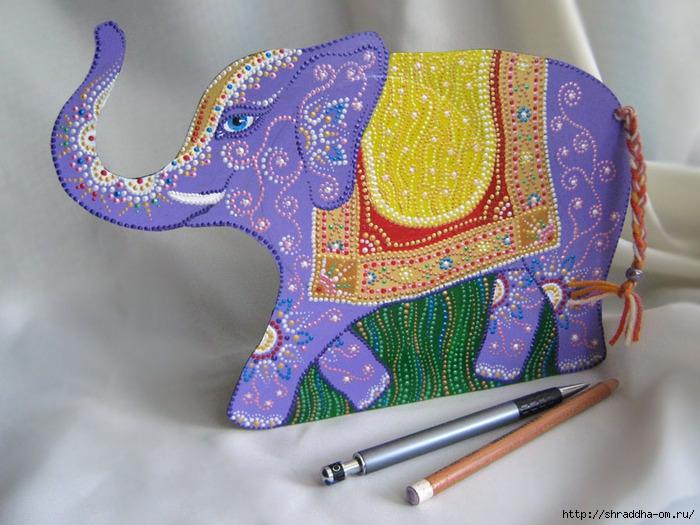 Слон, подставка для карандашей, винил, акрил, Shraddha, 1 (700x525, 275Kb)